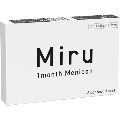 Miru 1 month Menicon for Astigmatism (6 lenti)